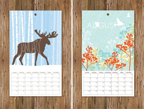 Anna Cote 2012 Calendar