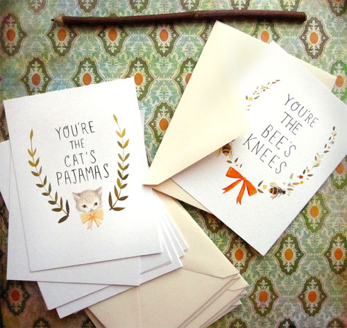 Hand Lettered Postcards