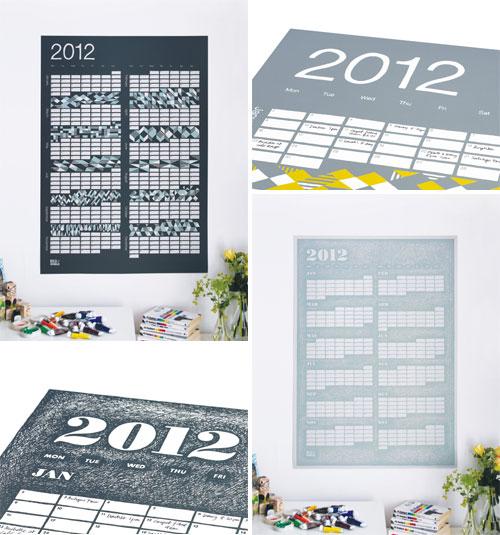 Screen Printed 2012 Calendars
