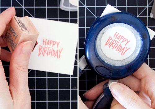 Happy Birthday Embossed