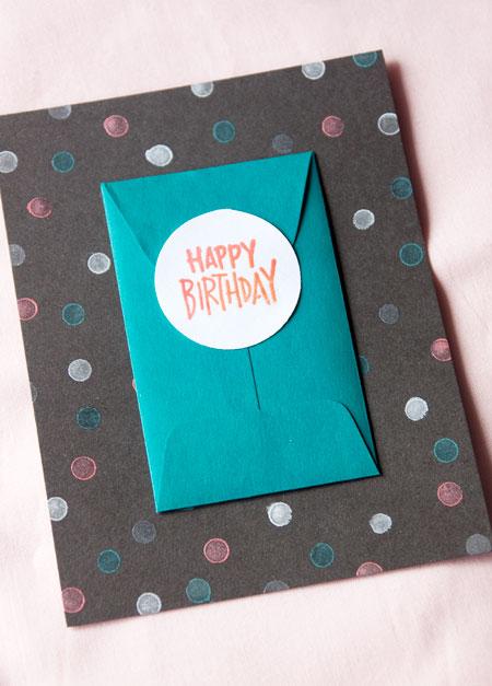 Confetti Mini Envelope Card Finished
