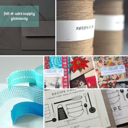 Felt & Wire Supply Giveaway