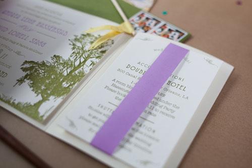 Jazzy Watercolor Wedding Invitations