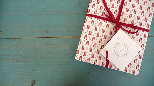 Leaf and Straw Letterpress Note Books