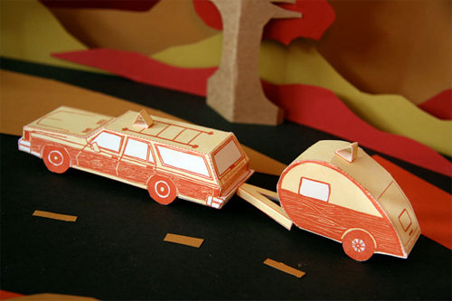 DIY 3D Station Wagon + Teardrop Camper