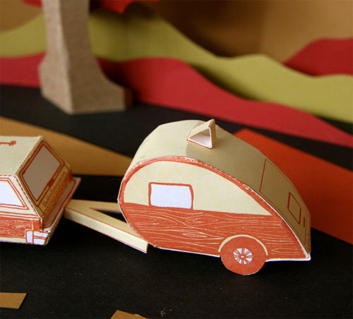 Letterpress Teardrop Trailer