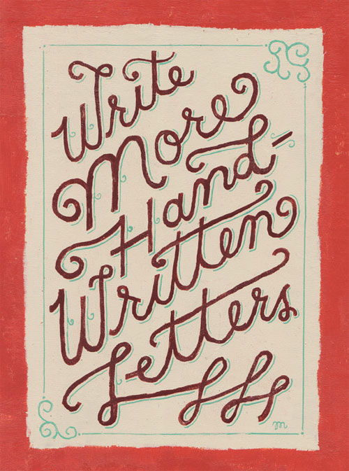 Write More Handwritten Letters