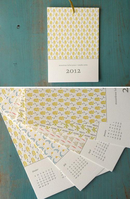 2012 Letterpress Pattern Calendar