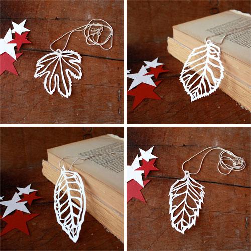 Papercut Leaf Necklaces