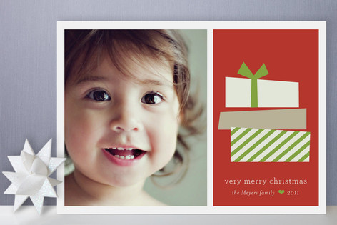 Stacked Gifts Holiday Photo Cards