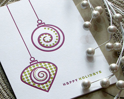 Ornament Letterpress Cards