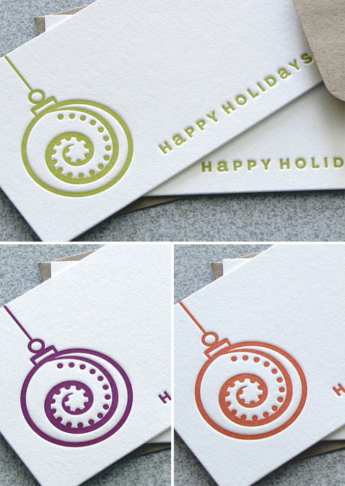 Happy Holidays Mini Cards