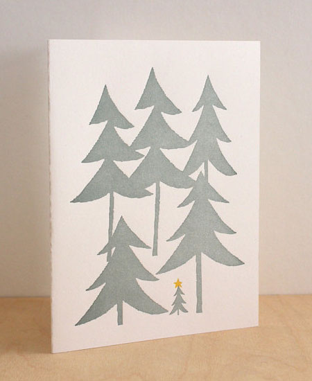 Christmas Tree Letterpress Card
