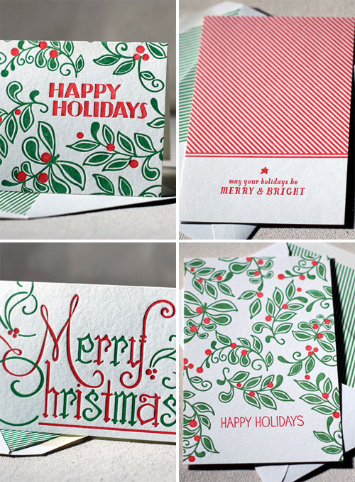 Letterpress Holiday Cards by Smock