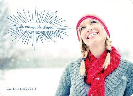 Be Merry, Be Bright Holiday Photo Cards
