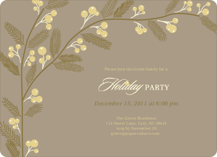 Elegant Holiday Party Invitations Berry Invite by Sarah Green – Elegant Holiday Party Invitations