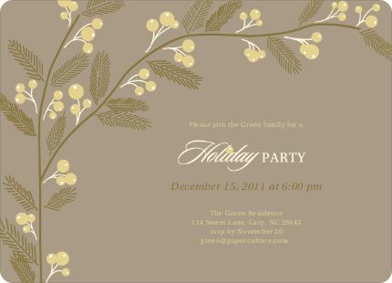 Berry Invite Holiday Party Invitations