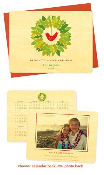 Bird Wreath Holiday Cards