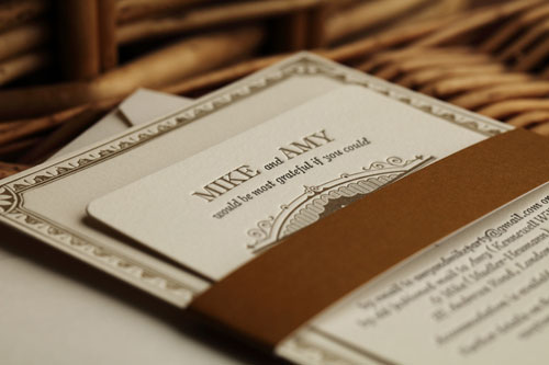 Artcadia Custom Letterpress Invites