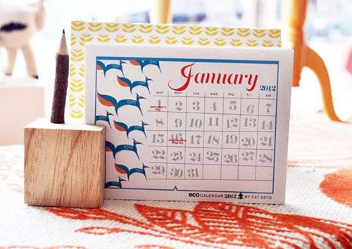 Cat Seto Desk Calendar