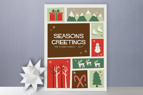 Christmas Cutout Holiday Cards