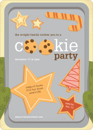 Cookie Party Exchange Invitations by Lisa Schneller