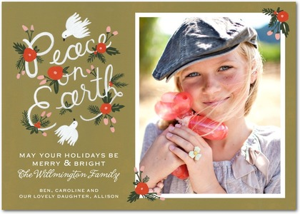 Festive Wishes Holiday Photo Cards