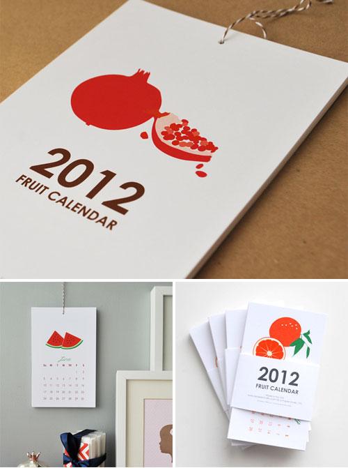 2012 Wall Calendar Fruit