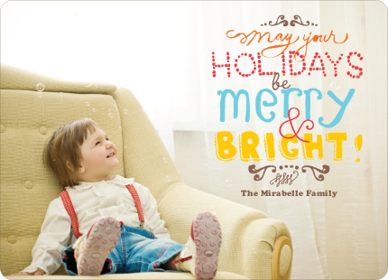 Hand Drawn Holidays Photo Cards