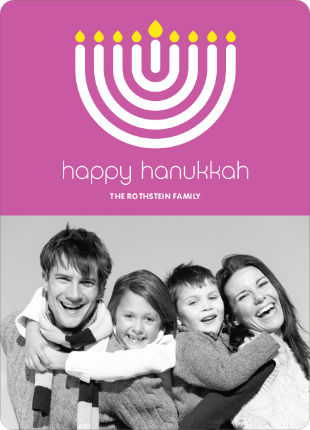 Happy Hanukkah (Menorah) Cards