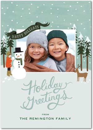 Happy Winter Holiday Photo Cards