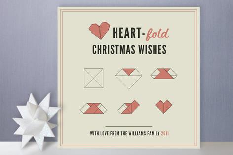 Heart Fold Holiday Cards