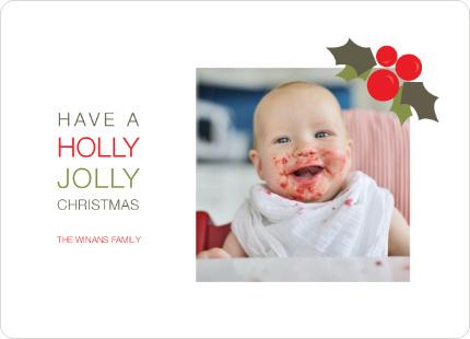 Holly Jolly Christmas Photo Cards