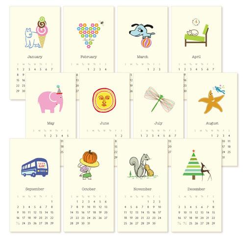 Petite Wall Calendar