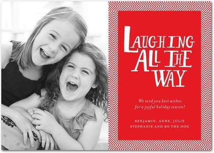 Jolly Laughter Holiday Photo Card
