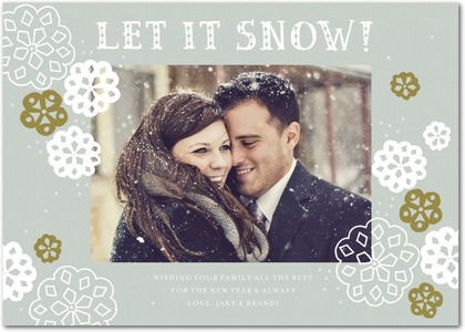 A Happy Snowfall Holiday Photo Card