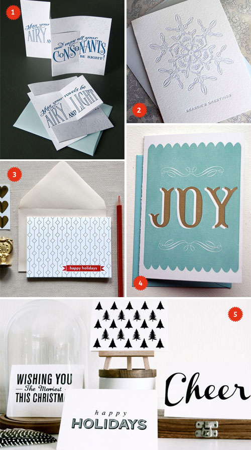 A Letterpress Christmas Cards