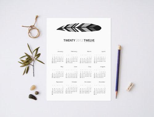 Miles of Light Feather Calendar