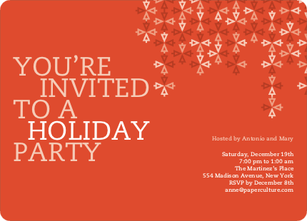 Modern Holiday Ornaments Invitations