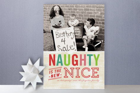 naughty is nice photo cards - Naughty Or Nice Christmas Card