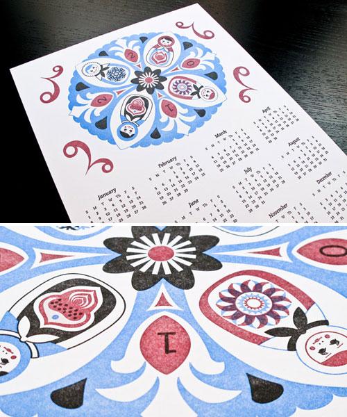 Polish Wycinanki Calendar