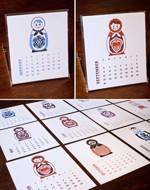 Russian Nesting Doll Calendar