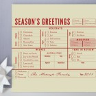 Season's Greetings Checklist Cards