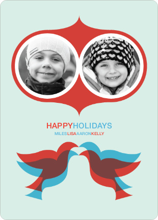 Seeing Double Holiday Photo Cards