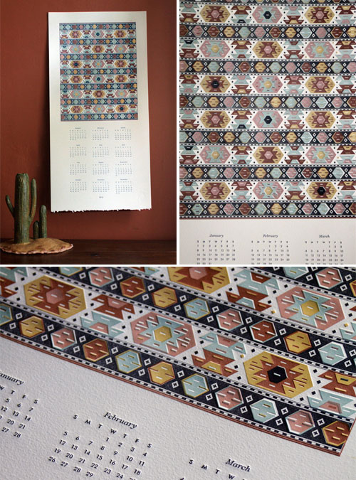 Southwestern Letterpress Calendar