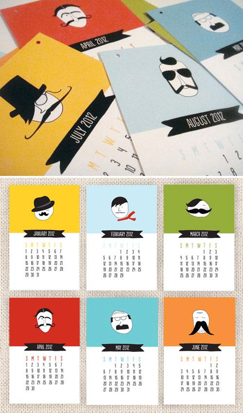 2012 Mustache Calendar