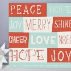 Type Collage Holiday Cards