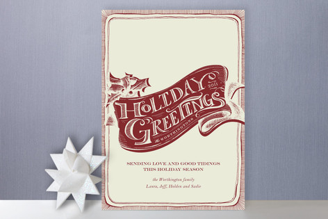 Vintage greetings holiday cards