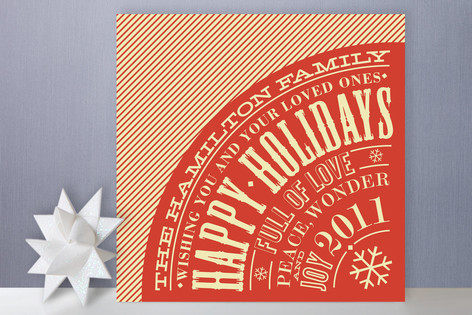 Vintage Typography Holiday Cards