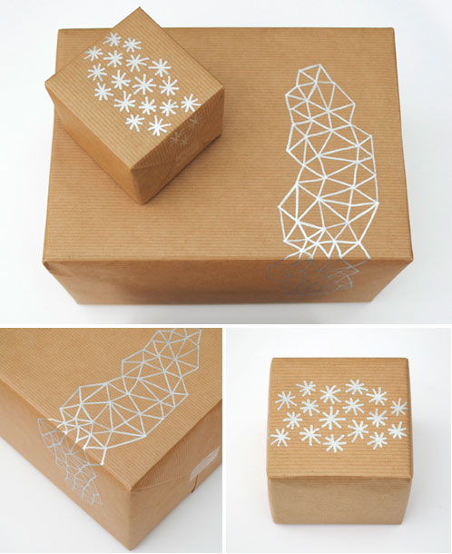 Metallic Pen Gift Wrap